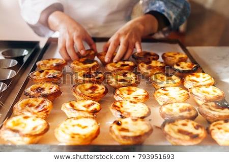 Portuguese Cake - Pasteis de Belem or Nata. Pasteis de Belem Stock photo © matimix