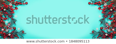 Maretak banner illustratie donkere tekening vakantie Stockfoto © colematt