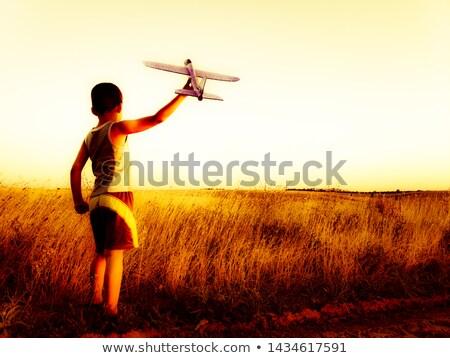 Heureux joyeux personnes homme regarder trou Photo stock © Kurhan