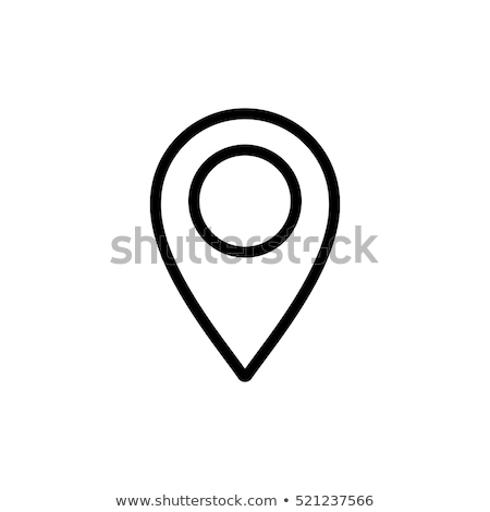 Pin line map location icon place vector illustration isolated on Stock photo © NikoDzhi