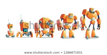 Militar robótica soldados radar planejamento robô Foto stock © RAStudio