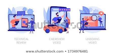 vetor · cor · paleta · carro · isolado · branco - foto stock © rastudio