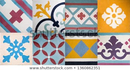 традиционный керамической плитка красочный геометрический форма Сток-фото © boggy