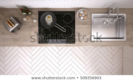 View Of A Kitchen Worktop Stock photo © AndreyPopov