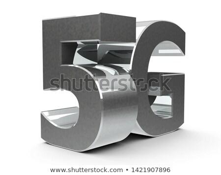 Metal icon 5G isometry Stock photo © Oakozhan