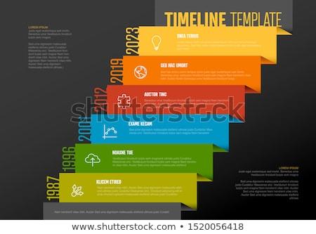 vettore · infografica · società · milestones · timeline · diagonale - foto d'archivio © orson