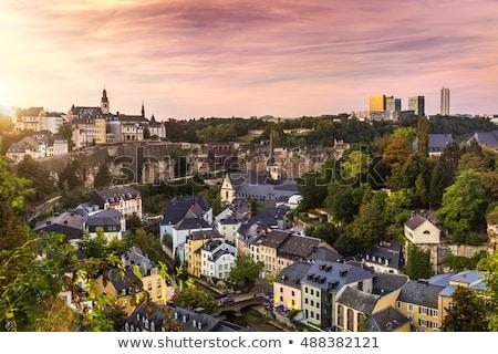 Luxemburg stad panoramisch stadsgezicht afbeelding oude binnenstad Stockfoto © rudi1976