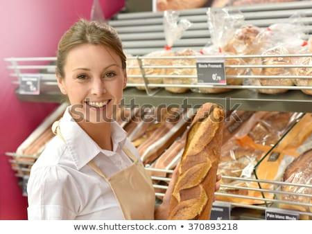 美人 販売 パン ベーカリー 提供すること ローフ ストックフォト © Kzenon