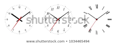 Analog zegar klasyczny wskazując odizolowany biały Zdjęcia stock © szefei