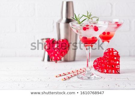 Kızılcık kokteyl sevgililer günü içmek su Stok fotoğraf © furmanphoto
