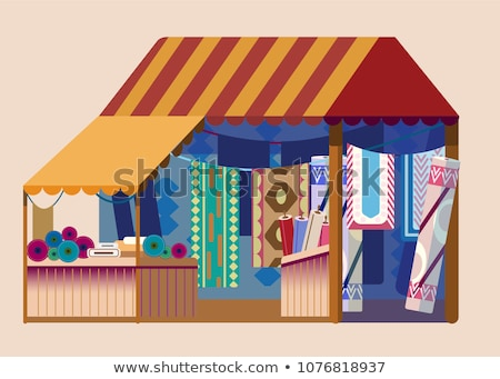 Outdoors shop with carpets for sale Stock photo © Novic