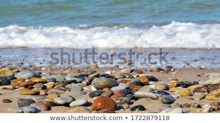 青 石 砂利 抽象的な テクスチャ 風景 ストックフォト © Anneleven