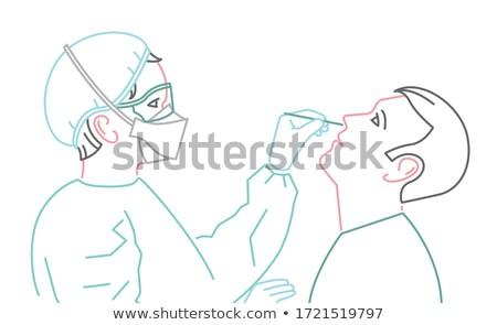коронавирус пациент лаборатория испытание дыхательный кровь Сток-фото © RAStudio