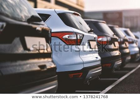 Samochody parking wiele miasta kolor samochodu Zdjęcia stock © lightpoet