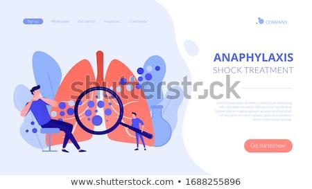 Anaphylaxis concept landing page. Stock photo © RAStudio
