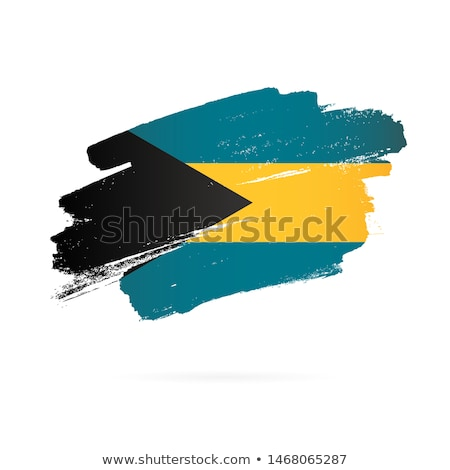 Bahamas flag and hand on white background. Vector illustration Stock photo © butenkow