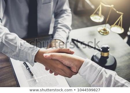 Handshake after good cooperation, Businessman handshake male law Stock photo © Freedomz