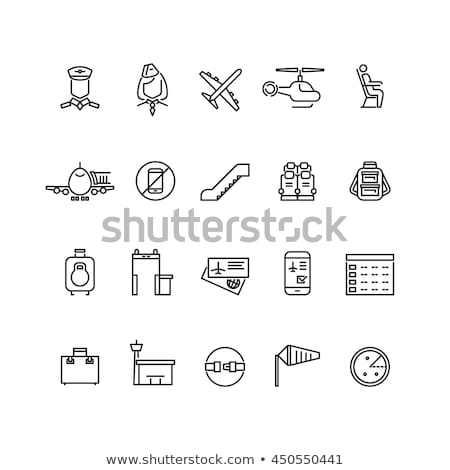 aircraft passengers icon vector outline illustration Stock photo © pikepicture