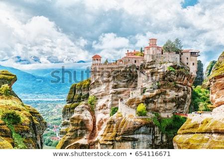 Krajobraz Grecja skał niebo górskich zielone Zdjęcia stock © borisb17