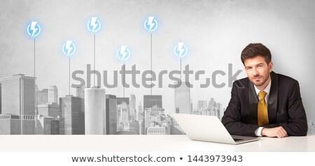 Cidade energia consumo sessão secretária Foto stock © ra2studio