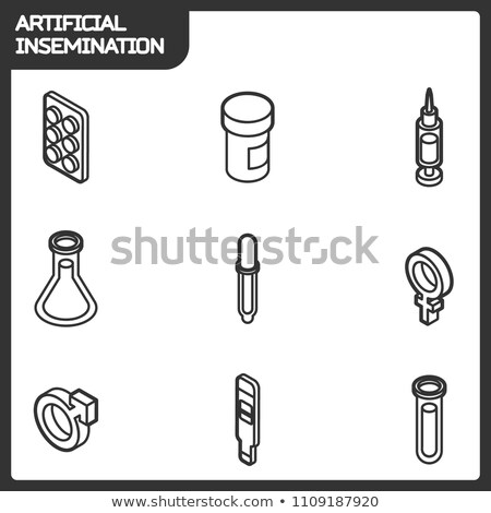 Sperm Cell Egg isometric icon vector illustration Stock photo © pikepicture
