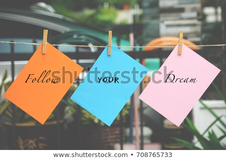 dream wooden peg and colorful words stock photo © ansonstock