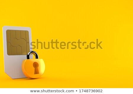 3d · render · zilver · chroom · concentrisch · oranje - stockfoto © dariusl