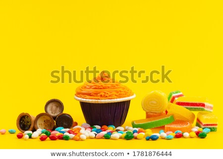 Biscuits, marmalade and orange Stock photo © aladin66