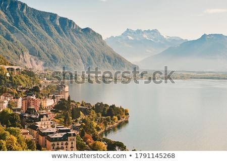 Case barcă trandafir natură peisaj munte Imagine de stoc © mariephoto