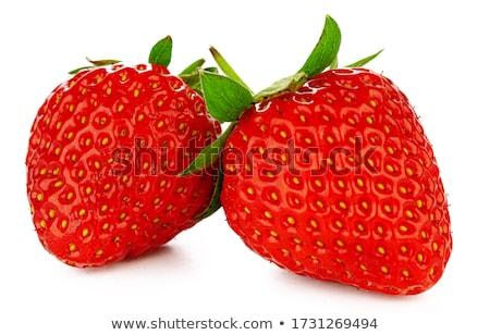 heldere · rijp · aardbei · aardbeien · Rood - stockfoto © imaster