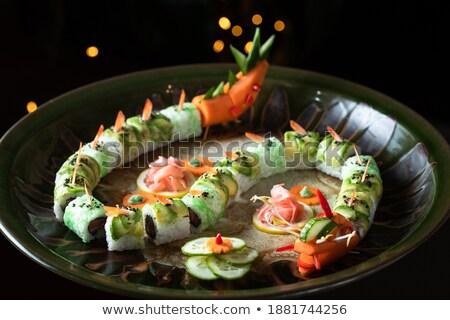 Stock fotó: Zsemle · űrlap · sárkány · izolált · fehér · étel