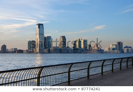 New Jersey skyline at evening time Stock photo © prill