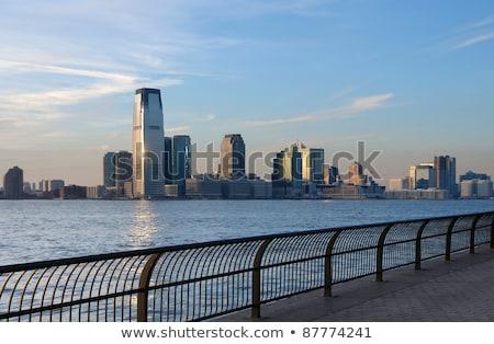 New Jersey skyline avond tijd USA Stockfoto © prill