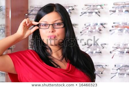 оптик · красивой · модный · очки · женщину - Сток-фото © redpixel