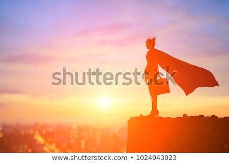 vitória · mulher · de · negócios · bastante · morena · negócio - foto stock © feedough