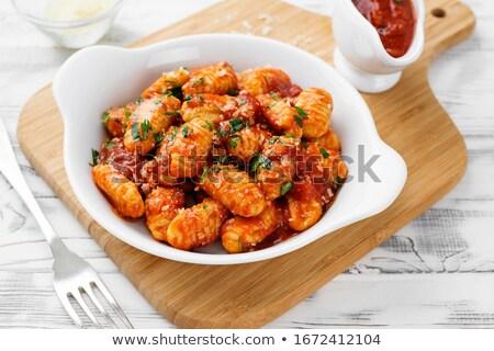 salsa · di · pomodoro · pasta · mangiare · pranzo · patate · pasto - foto d'archivio © M-studio