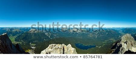 Panoramic View Zugspitze German Austrian Boarder Stock photo © 3523studio
