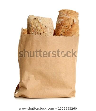 Pain emballage isolé fond sac maïs Photo stock © ozaiachin