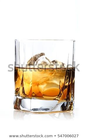 rocas · vidrio · dorado · hielo · mesa - foto stock © 3523studio