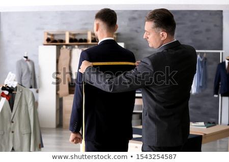 Rzemieślnik pracownika osoby mężczyzna władcy Zdjęcia stock © photography33