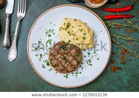 Mashed Potato and Meat Rissoles Stock photo © zhekos