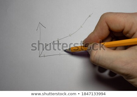 Stock photo: Graph the growth of the pieces of paper and pen