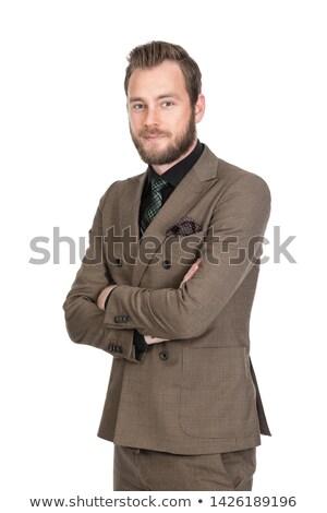 肖像 ビジネスマン ポインティング 戻る 白 ビジネス ストックフォト © wavebreak_media