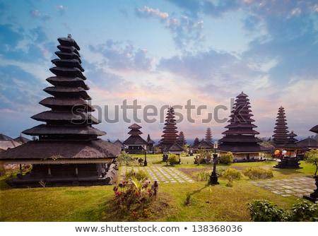 Complexo templo bali Indonésia árvore edifício Foto stock © Witthaya