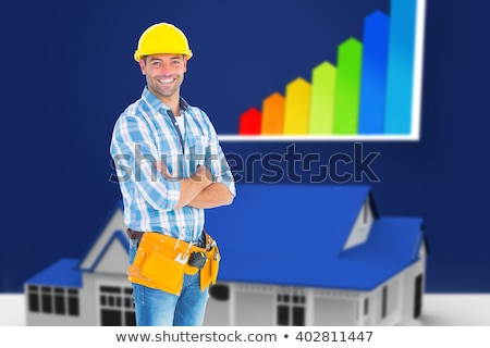 Blue house standing with energy rating Stock photo © wavebreak_media