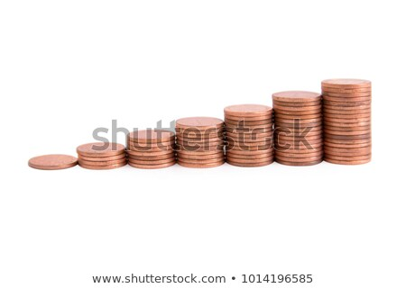 stacks of various coins with clipping path stock photo © sqback
