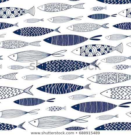 Blauw vis groot punten Rood Stockfoto © thomaseder