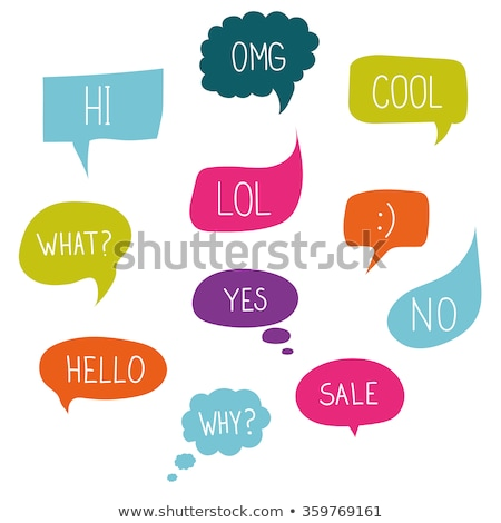 abstract colorful speech bubbles vector Stock photo © burakowski