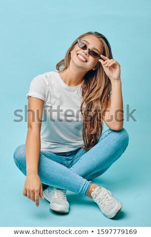 Ekspresyjny oczy makijaż moda piękna dziewczyna Zdjęcia stock © Victoria_Andreas