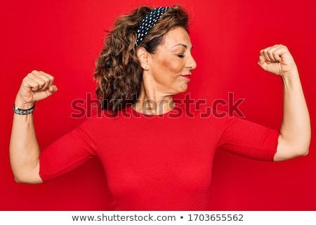 Montare orgoglioso ritratto giovani bruna donna Foto d'archivio © lithian